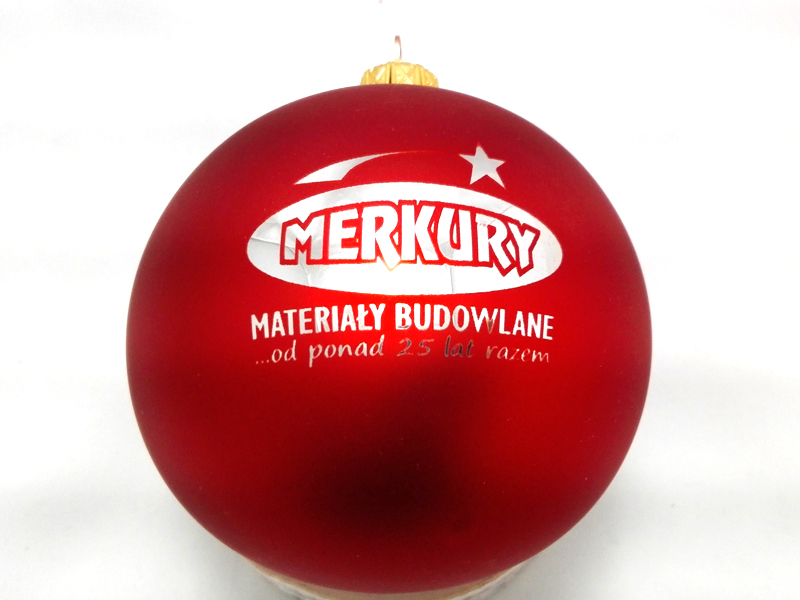 Chrismas ball with logo merkury