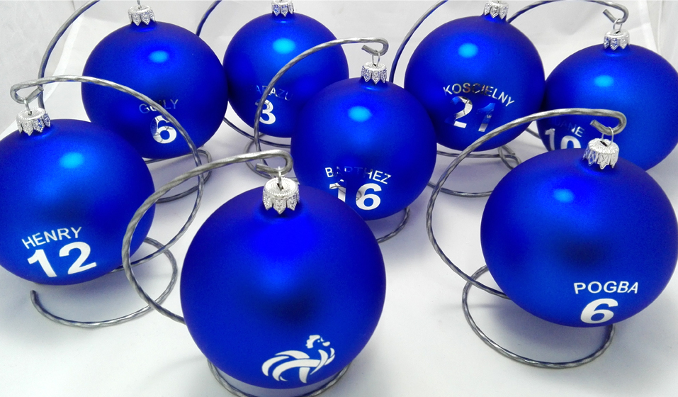 Christmas ball with logo collective