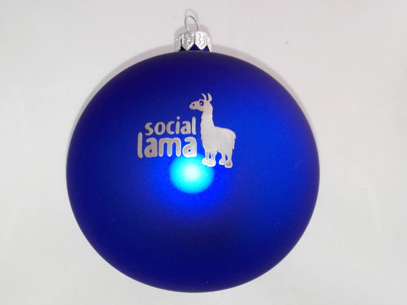 Custom Ornaments with Logos social lama