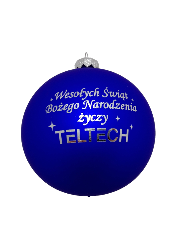 Christmas baubles with a logo teltech