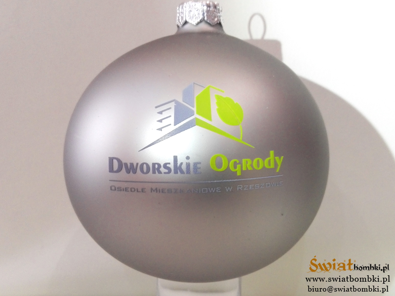 advertising balls, Christmas baubles with a logo