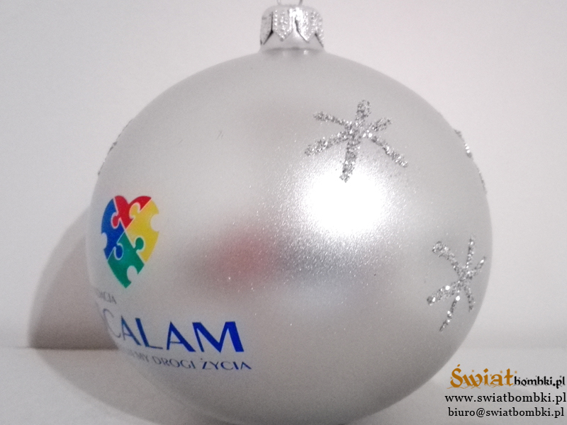 Christmas balls with logo, hand-decorated ornaments