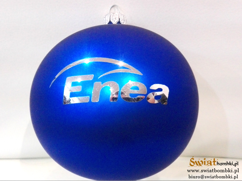 christmas balls with logo Enea