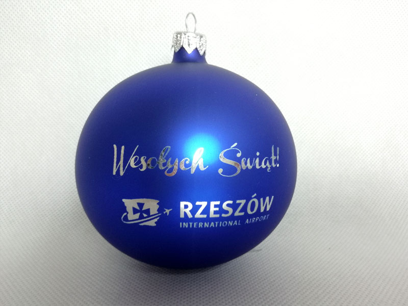 Christmas balls with logo
