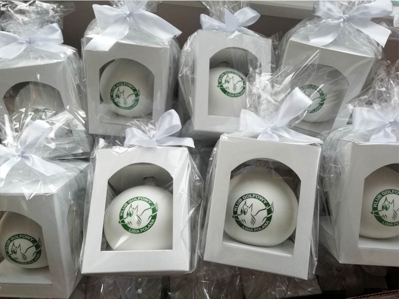 Packages for Christmas balls ornaments
