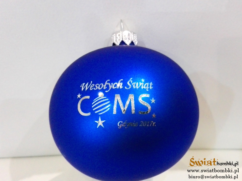 christmas balls with logo COMS