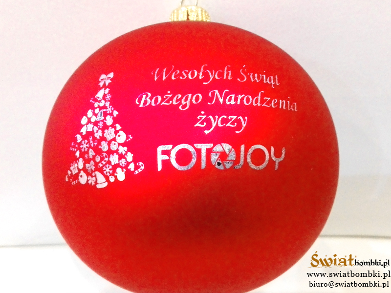 christmas balls with logo FOTOJOY