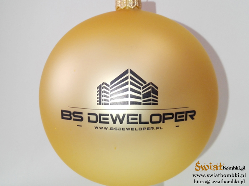Custom Ornaments with Logos bs deweloper
